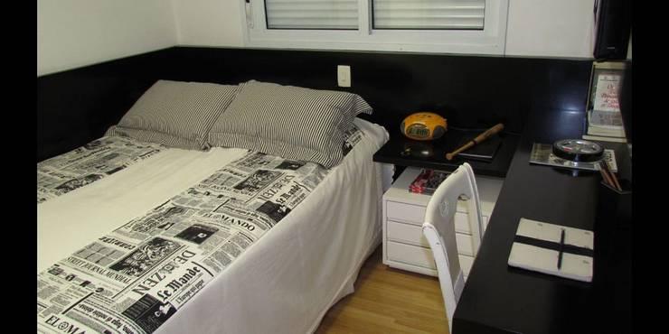 Apartamento 140m²: Quartos  por Marianna Vetorazzo Haddad Arq+Interiores
