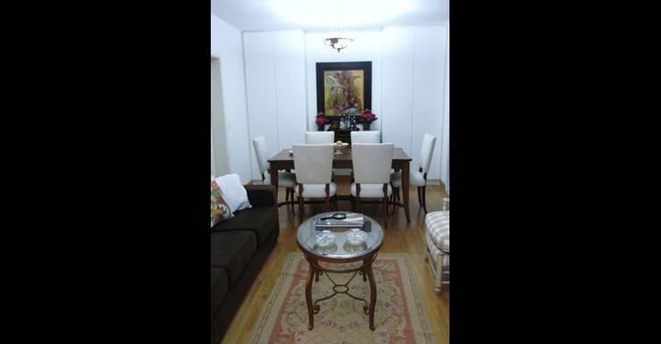 Apartamento 140m²: Salas de estar  por Marianna Vetorazzo Haddad Arq+Interiores