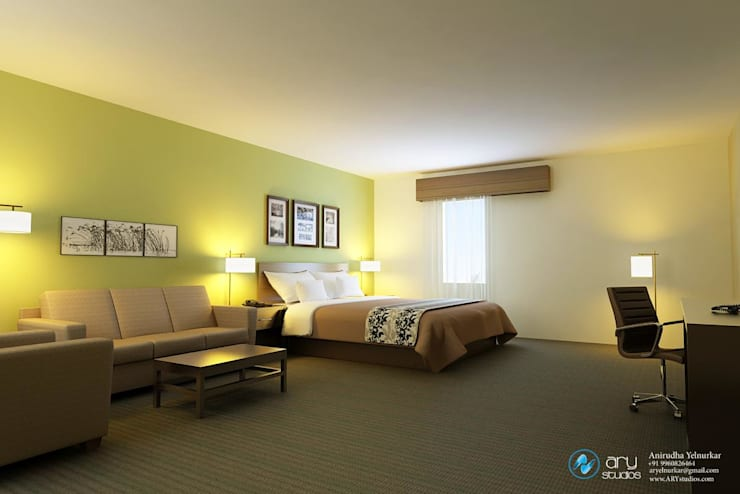 Chambre moderne par ARY Studios Moderne