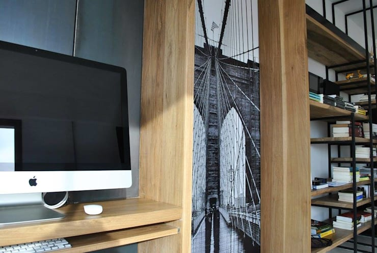 Depto DLH: Livings de estilo  por T + T Arquitectos,