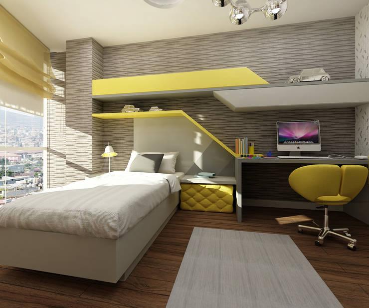 Treso İç Mimarlık – Gold Towers Konut: modern tarz Çocuk Odası