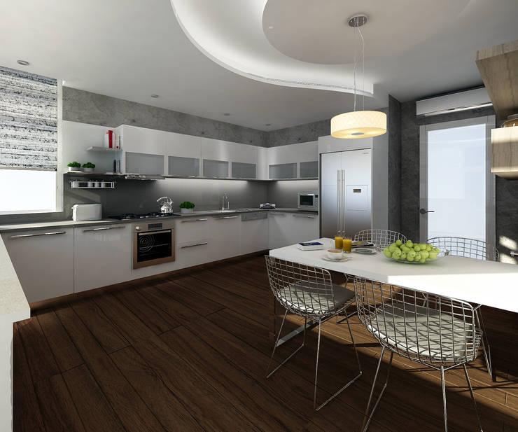Treso İç Mimarlık – Gold Towers Konut:  tarz Mutfak