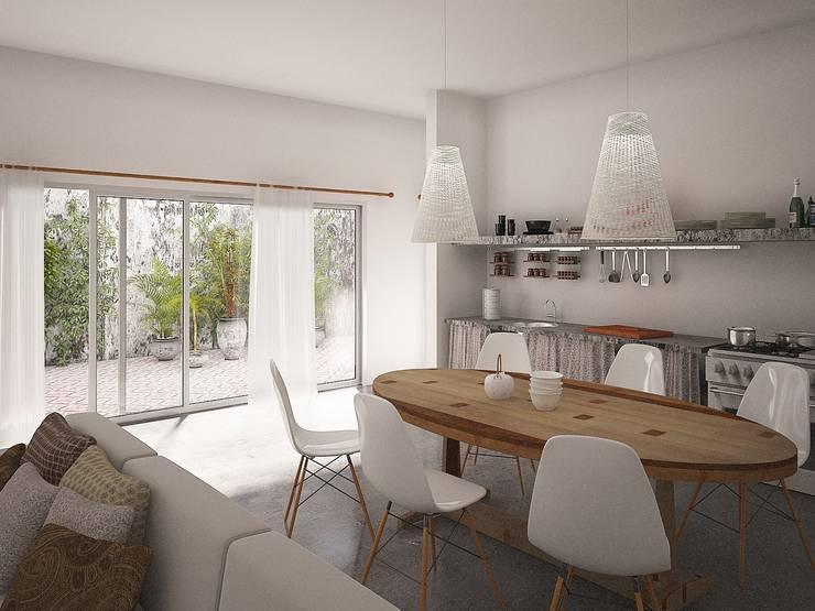 Projekty,  Salon zaprojektowane przez Jimena Serradell