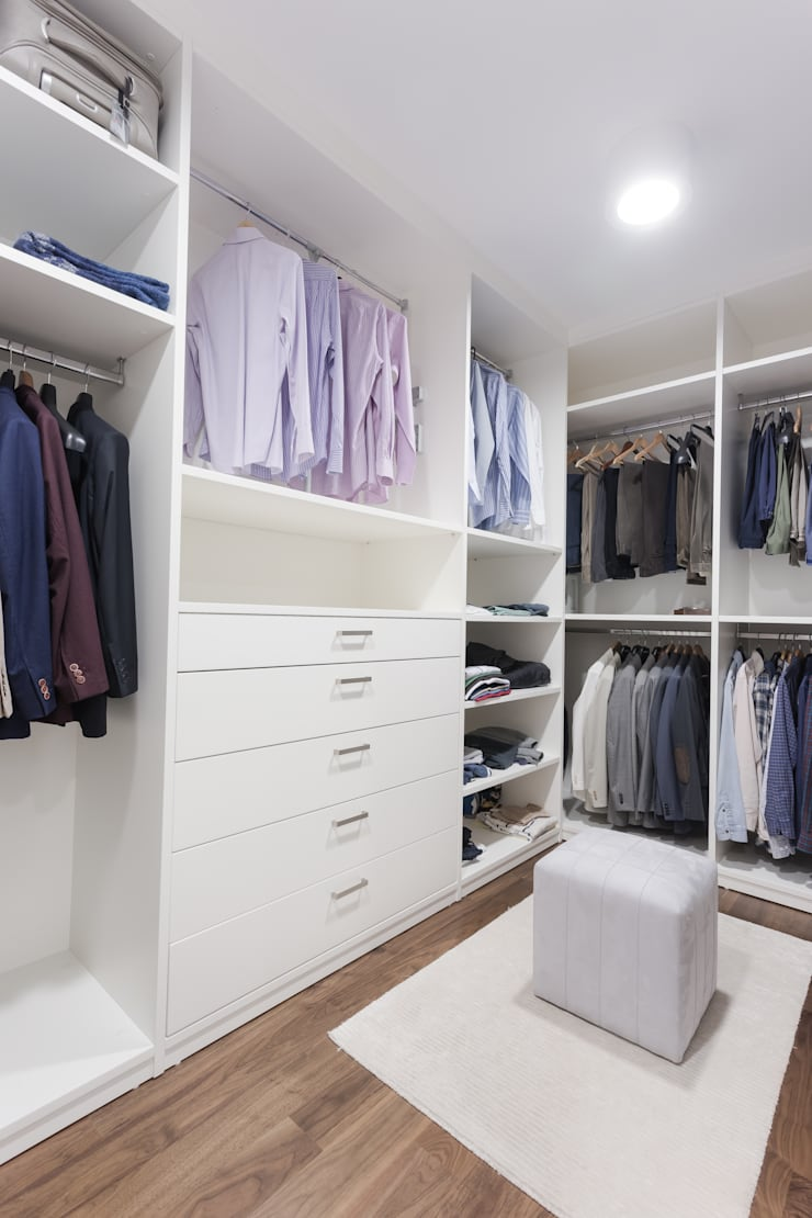 Treso İç Mimarlık – R.K. Konutu:  tarz Giyinme Odası, Modern