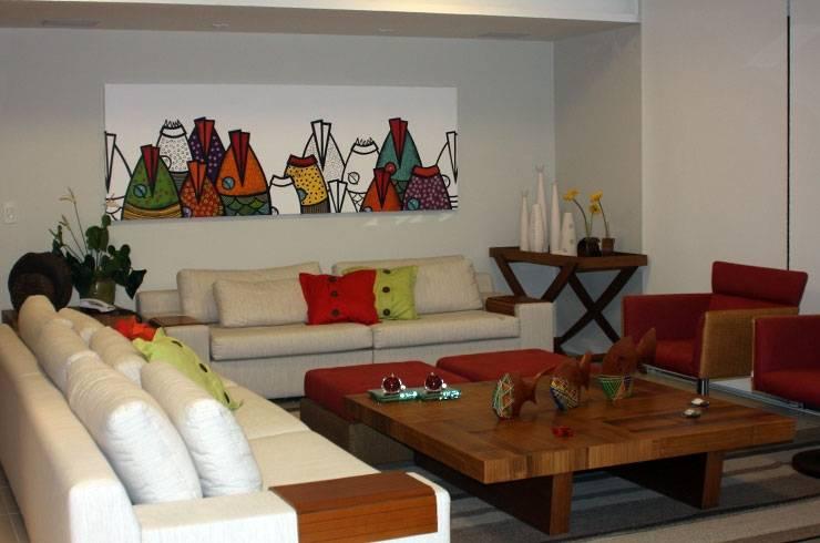 Apartamento JAG: Salas de estar  por Ana Padilha Arquitetura,Moderno