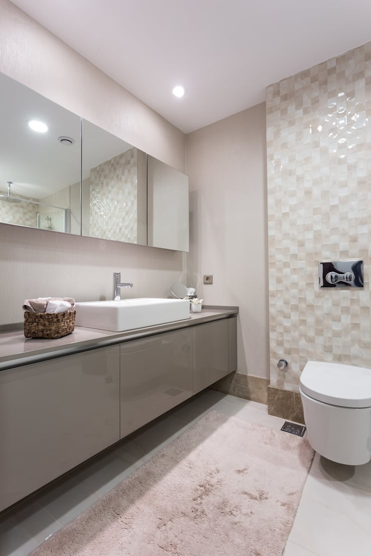 Treso İç Mimarlık – R.K. Konutu:  tarz Banyo, Modern