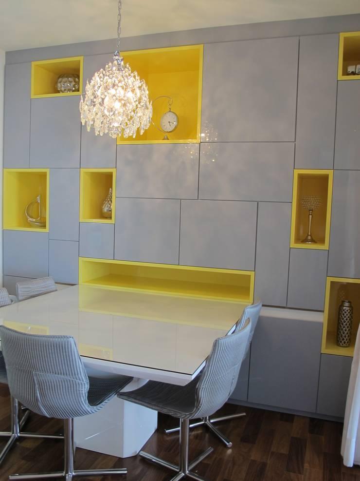 Residencia / Apartamento: Salas de jantar  por Andrea Vasconcelos Arquitetura e Design