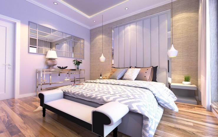 WATERLANE APARTAMENT: styl , w kategorii Sypialnia zaprojektowany przez malee