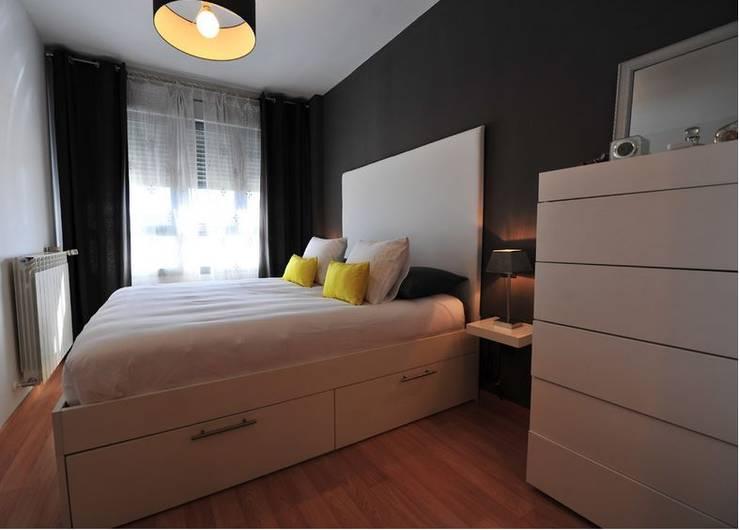 Vivienda para joven independiente: Dormitorios de estilo moderno de afg interiores