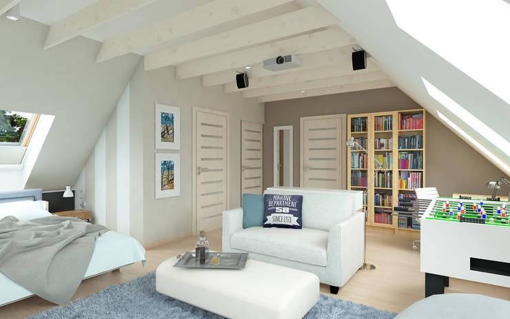PRZYTULNY DOM NA WZGÓRZU: styl , w kategorii Sypialnia zaprojektowany przez malee