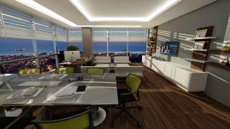 Treso İç Mimarlık – Gold Towers Ofis:  tarz Çalışma Odası, Modern