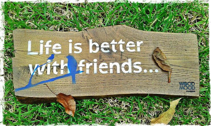 Life is better with friends: Quarto  por WoodMood