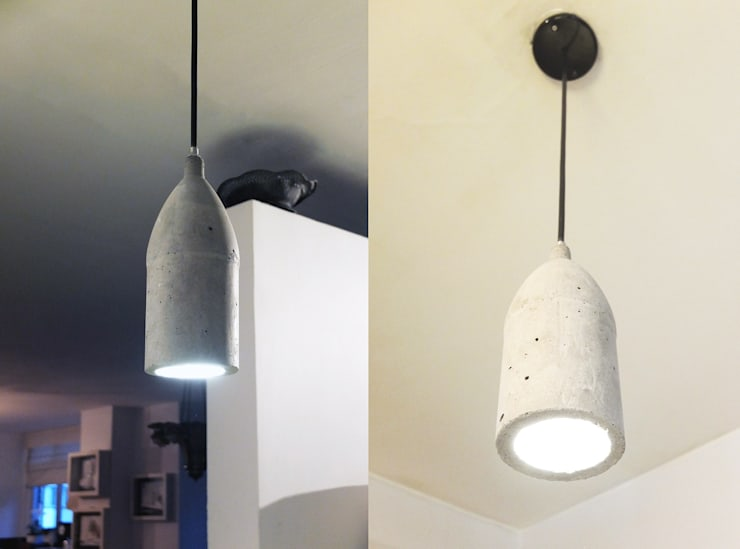 Proyecto Mesa y Lámpara:  de estilo  por En Concreto Taller, Moderno