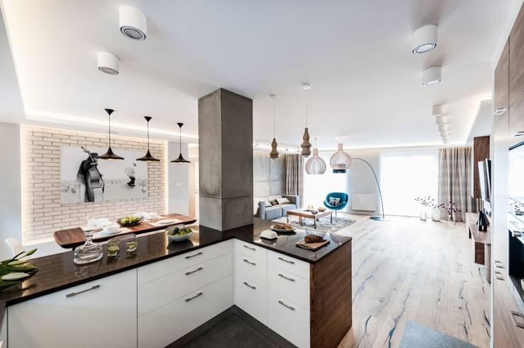 Mieszkanie w Gdańsku: styl , w kategorii Kuchnia zaprojektowany przez Arte Dizain. Agnieszka Hajdas-Obajtek,Eklektyczny
