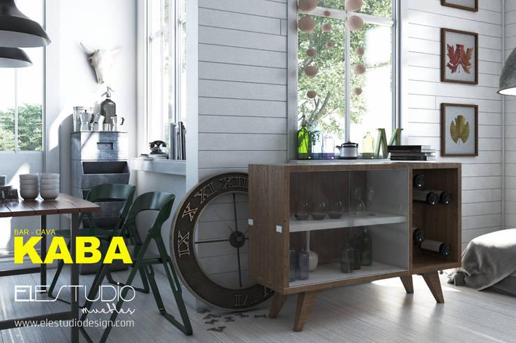 KABA:  de estilo  por ELESTUDIO, Minimalista Madera Acabado en madera