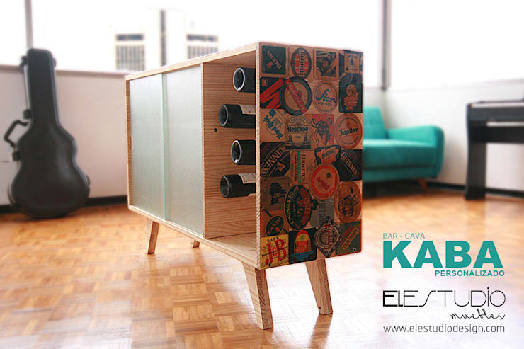 KABA personalizado:  de estilo  por ELESTUDIO, Minimalista Madera Acabado en madera