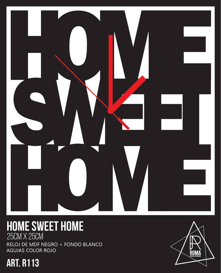 RELOJ HOME SWEET HOME   R113 de ROMA   tienda de diseño Escandinavo
