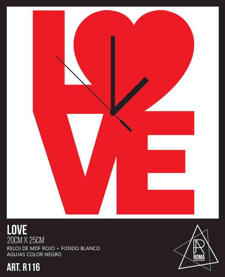 RELOJ LOVE   R116 de ROMA   tienda de diseño Escandinavo