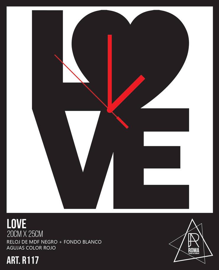 RELOJ LOVE   R117 de ROMA   tienda de diseño Escandinavo