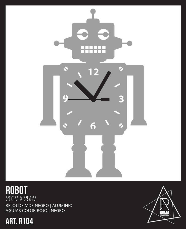 RELOJ ROBOT: Dormitorios infantiles  de estilo  por ROMA | tienda de diseño,