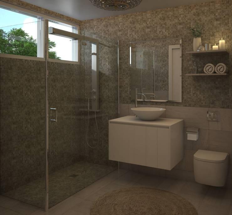 Baño Moderno: Baños de estilo  por Gabriela Afonso
