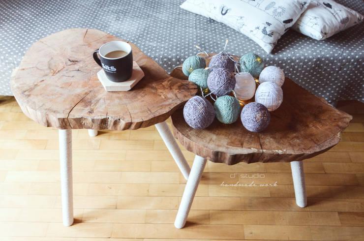 Zestaw stolików kawowych MUKY: styl , w kategorii Salon zaprojektowany przez D2 Studio