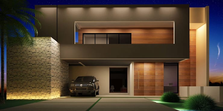 Projeto: Casas modernas por alexandre chaguri arquitetura