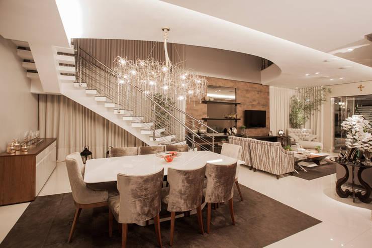 Projeto: Salas de jantar modernas por Heloisa Titan Arquitetura