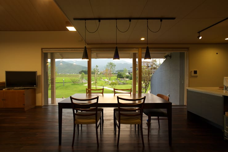 前原の家: AMI ENVIRONMENT DESIGN/アミ環境デザインが手掛けたダイニングです。