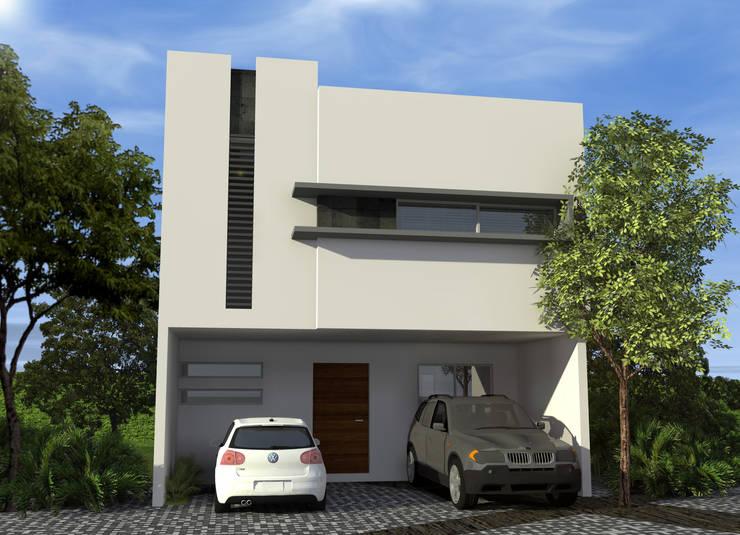 Casas de estilo  por studioQUATTRO.mx