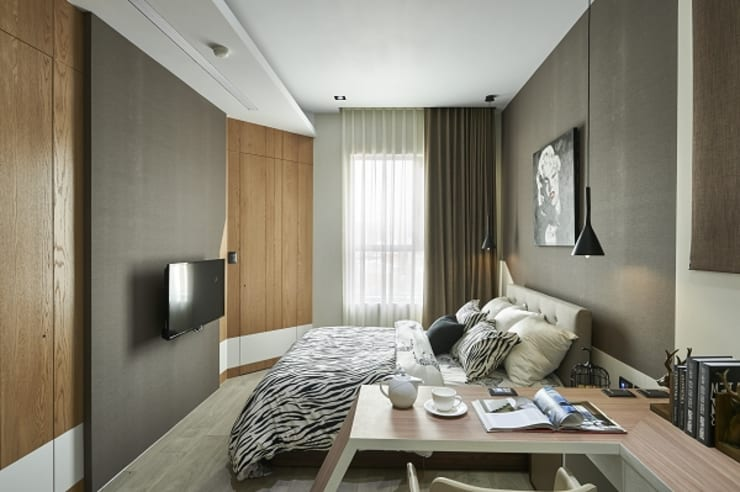 [HOME] Yunshi Interior Design: KD Panels의  침실