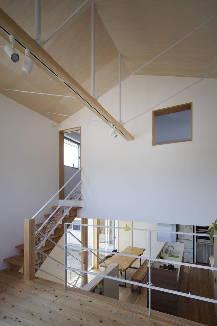伊勢のスキップハウス  HOUSE IN ISE: プラスアトリエ一級建築士事務所が手掛けたリビングです。
