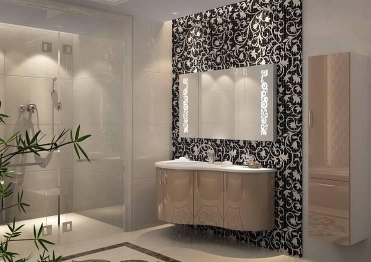 3D MİMARİ – BANYO ÇALIŞMALARI:  tarz Banyo