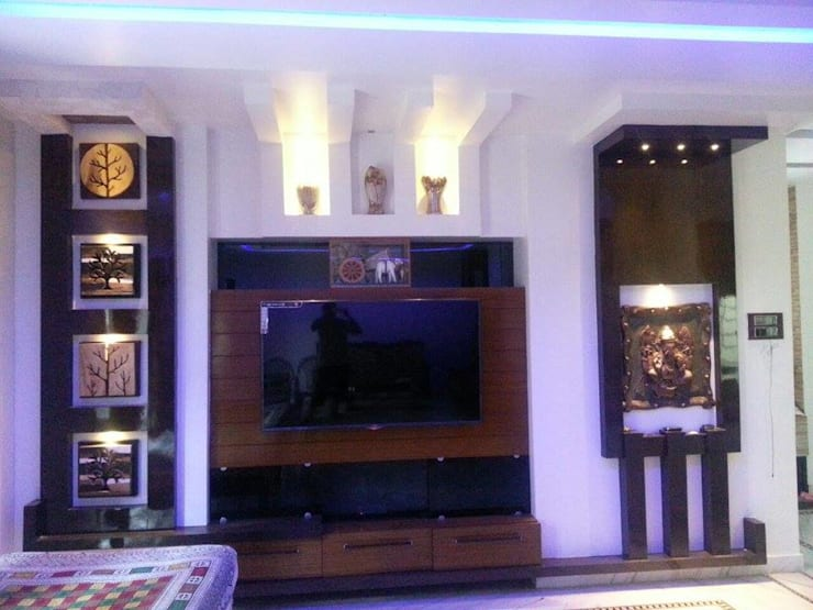 Interior Projects:  Living room by Enliven Architectural Solutions