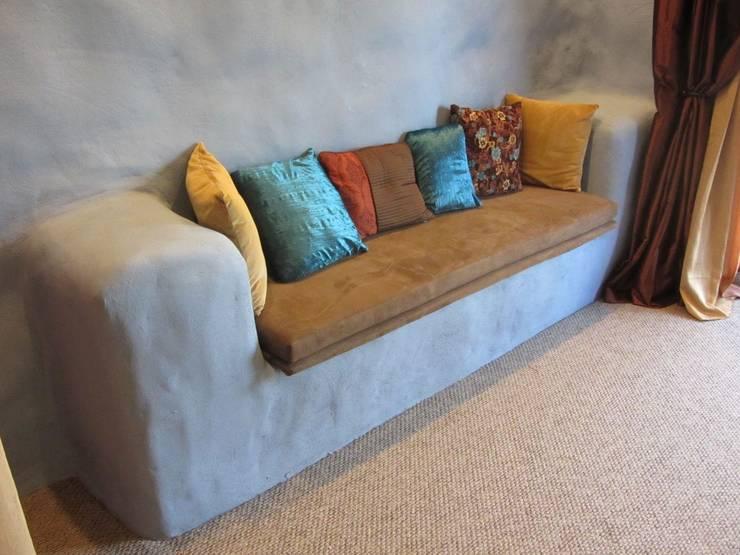 غرفة المعيشة تنفيذ Eco House Turkey Saman - Kerpic Ev