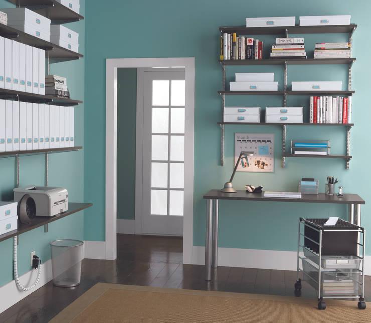 DIe richtige Wandfarbe für kreatives Arbeiten:  Arbeitszimmer von Elfa Deutschland GmbH