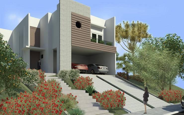 Fachada: Casas  por JCWK arquitetura (jancowski arquitetura)
