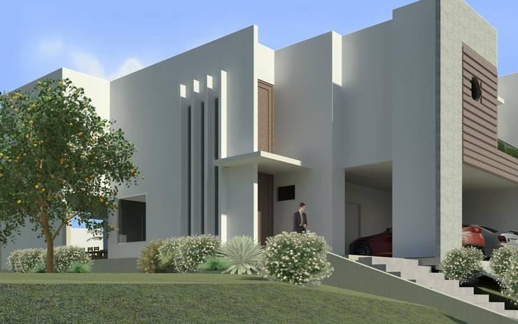 Lateral: Casas  por JCWK arquitetura (jancowski arquitetura)