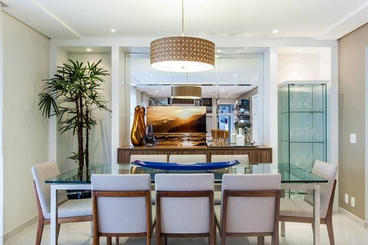 Apartamento – Campro Grande – São Paulo – SP: Salas de jantar modernas por Studio LK Arquitetura e Interiores
