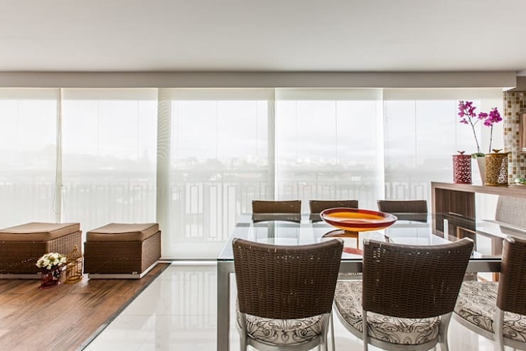 Apartamento – Campro Grande – São Paulo – SP: Terraços  por Studio LK Arquitetura e Interiores