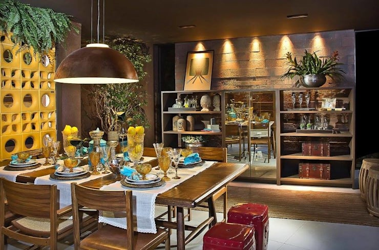 Casa Cor Brasília: Salas de jantar  por Celmar Móveis Planejados