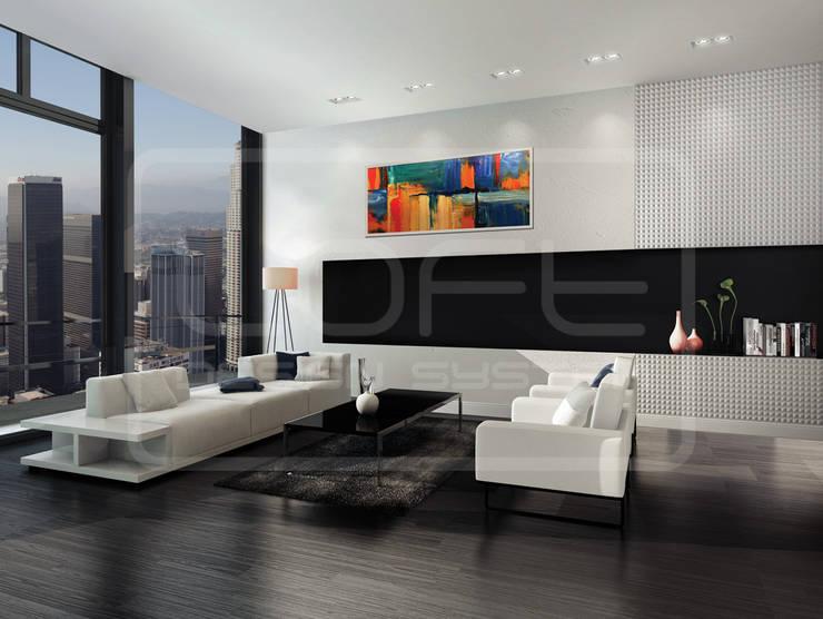 Panele Dekoracyjne 3D - Loft Design System - model Chaos: styl , w kategorii  zaprojektowany przez Loft Design System,Nowoczesny