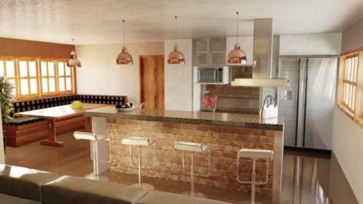 Cocinas de estilo moderno por A4D Arquitetos