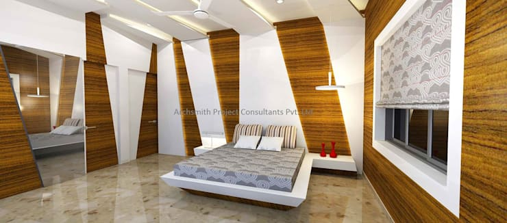 Bedroom Designs: modern Bedroom by Archsmith project consultant