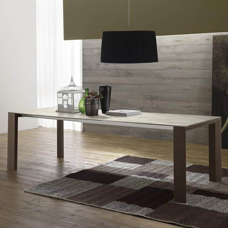Table extensible en Verre-Céramique Ceramic Made in Italy, super durable: Cuisine de style  par Viadurini.fr
