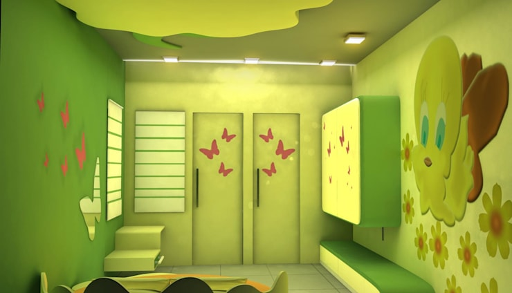 Kids room Designs:  Nursery/kid's room by ES Designs