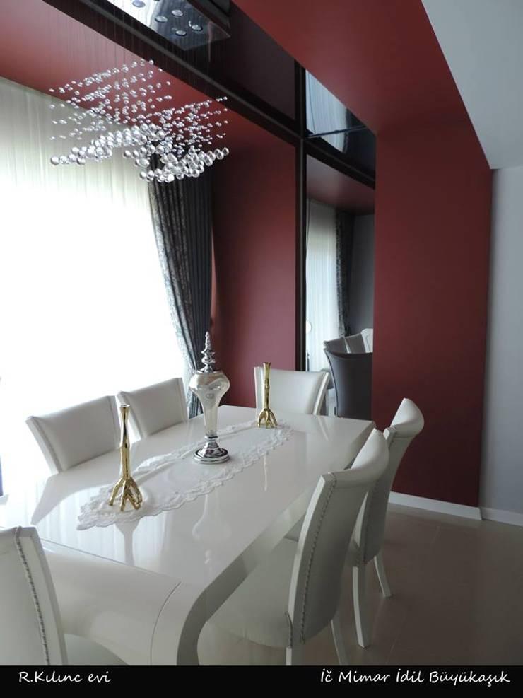 idiliçmimarlık – R. Kılınç Evi:  tarz Yemek Odası, Modern