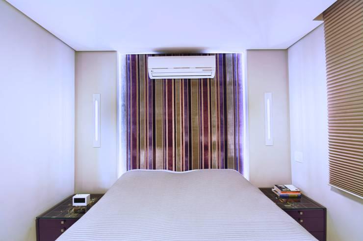 Apartamento Santana: Quartos  por Veridiana França Arquitetura de Interiores