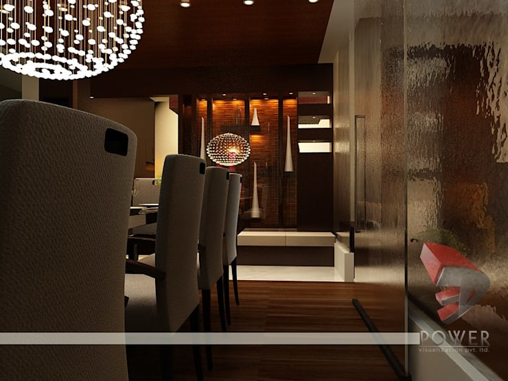 Comedores de estilo  por 3D Power Visualization Pvt. Ltd.,