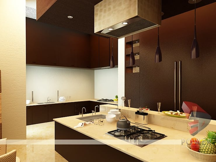 Cocinas de estilo  por 3D Power Visualization Pvt. Ltd.,